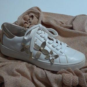 Michael Kors Lola Embellished-leather Sneaker